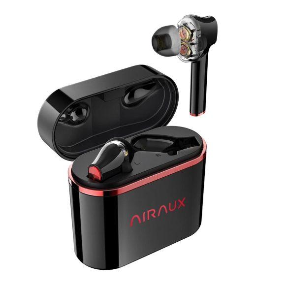 BlitzWolf® AirAux AA-UM5 - Căști cu șofer dual dinamic. Control tactil, IPX5 - Negru-Roșu