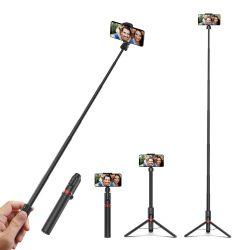 Selfie stick, tripod + lungime suplimentară - BlitzWolf® BW-BS10 Plus 1300 mm lungime, cu suport extensibil, picioare ascunse, telecomandă detașabilă