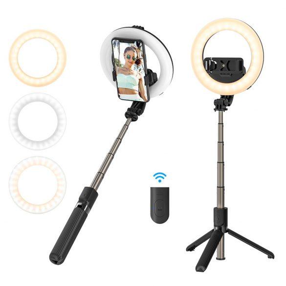 BlitzWolf® BW-BS8 Pro - Lumini de umplere Selfie Stick, trepied, 5 inch inch Light
