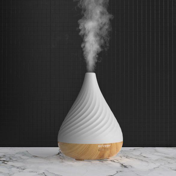 BlitzWolf® BW-Fun 12 - 200 ml vaporizator de aromă (difuzor) lumină de noapte - iluminare RGB, 2 tipuri de nori de vapori