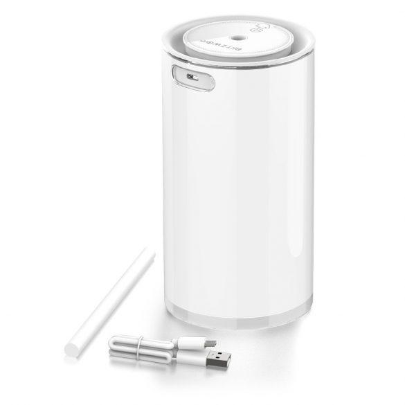 Difuzor cu ultrasunete BlitzWolf®BW-FUN2 - 400 ml, durata della batteria di 10 ore, luce bianca