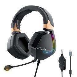 7.1 Cască Surround Gamer - BlitzWolf BW-GH2-  LED RGB, reducere a zgomotului, design ergonomic
