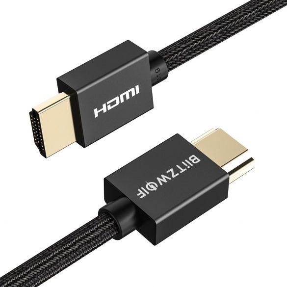 BlitzWolf® BW-HDC1- HDMI cablu. 4K, conector aurit / placat, sârmă împletită