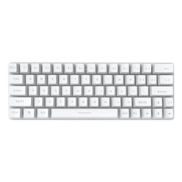 Tastatura gaming mecanica BlitzWolf BW-KB1 - Chei mecanice, iluminare cu LED-uri RGB, cablu și wireless, IPX4 - alb