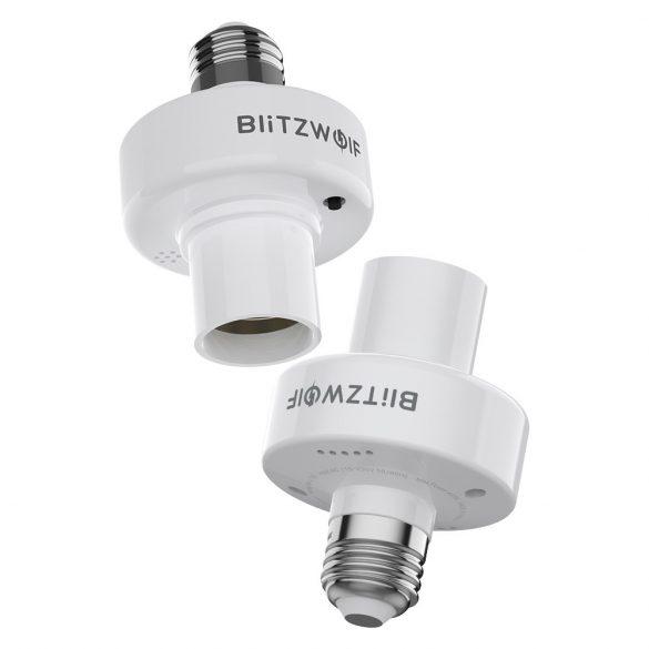 BlitzWolf®BW-LT30 E27 Suport pentru adaptor de bază pentru bec inteligent WIFI, aplicație și control vocal