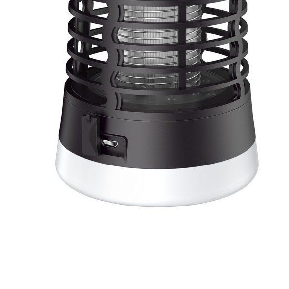BlitzWolf®BW-MLT1 - Baterie lampa electrica UV profesionala, de exterior / interior, Aparat anti tantari, anti muste, anti insecte, tehnologia IP66, dispozitivul este rezist cu baterie