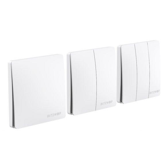Intrerupator smart - BlitzWolf® BW-SS2 comutator inteligent de perete RF 433Mhz - cu energie cinetică (nu este necesară baterie)