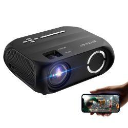 BlitzWolf® BW-VP11 - 720P, 6000 Lux - Proiector home cinema cu suport wireless + USB cu difuzor încorporat