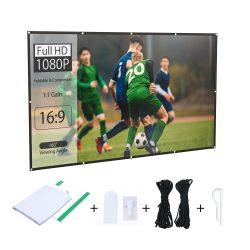 BlitzWolf® BW-VS2 Ecran de proiector portabil pentru proiecție de 80 inci, 16: 9