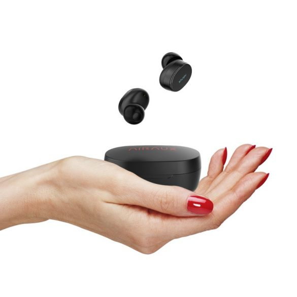 BlitzWolf® AIRAUX AA-UM4 TWS Căști Hi-Fi stereo cu carcasă de încărcare - Negru