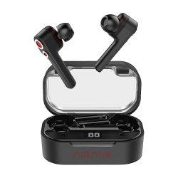 BlitzWolf® AirAux AA-UM6 Casti in-ear True-Wireless Bluetooth 5.0 Auricule duble dinamice Drivere IPX5, control tactil Tip de încărcare C - Negru