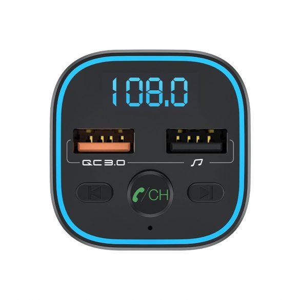 BlitzWolf® BW-BC1 - Încărcător USB auto pentru brichete și emițător FM