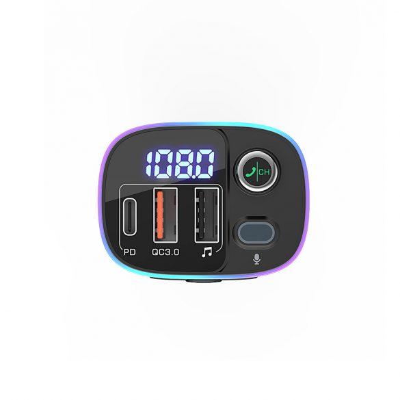 BlitzWolf® BW-BC2 - Încărcător USB auto pentru brichete și emițător FM