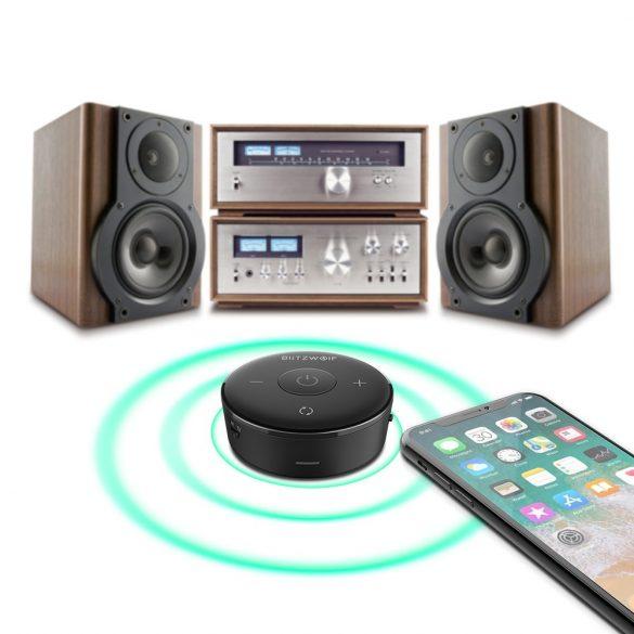 BlitzWolf® BW-BR3 - Adaptor Bluetooth transmitator si receptor, wireless Bluetooth 4.1, 3.5 mm pentru TV sau Home cinema