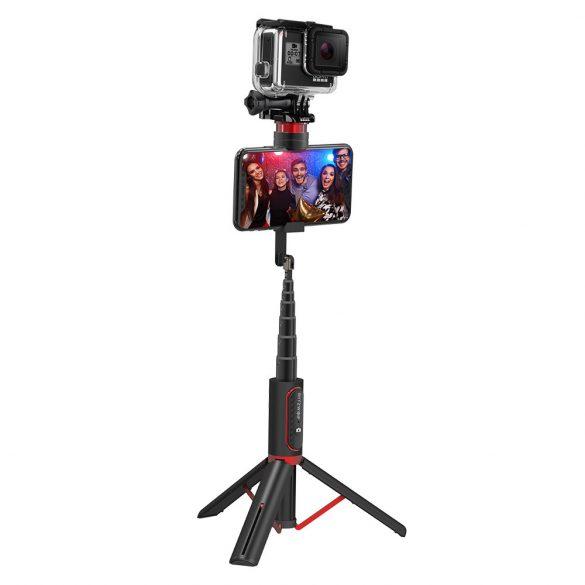 Blitwzolf BW-BS10 sport - Versatile 3 în 1 bluetooth Tripod Selfie Sticks - Negru