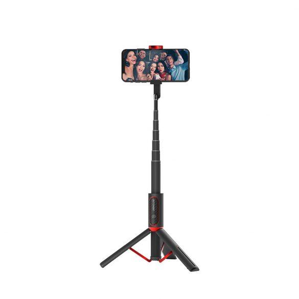 Blitwzolf BW-BS10 Versatile 3 în 1 bluetooth Tripod Selfie Sticks - Negru
