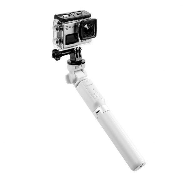 Selfie Stick Tripod BlitzWolf BW-BS3 Alb 3 in 1 cu Telecomanda Bluetooth detasabila