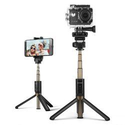 Selfie Stick Tripod BlitzWolf BW-BS3 Negru 3 in 1 cu Telecomanda Bluetooth detasabila