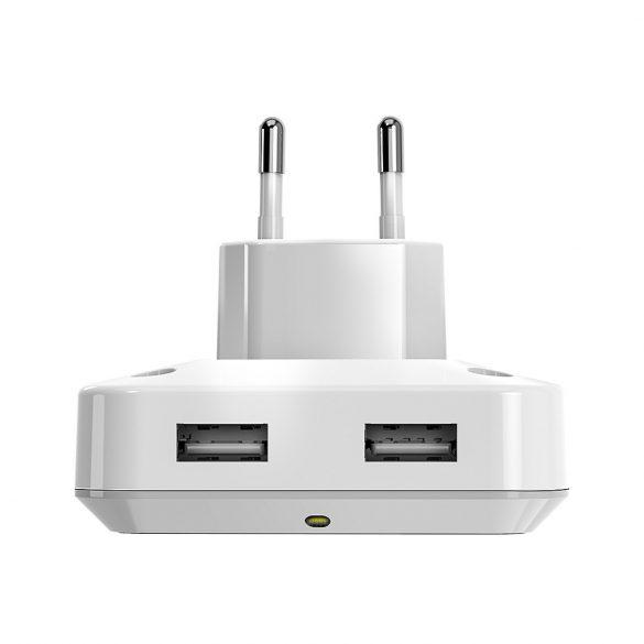 BlitzWolf® BW-LT14 Plug-in senzor de lumină LED luminos de noapte cu priză de încărcare USB dual