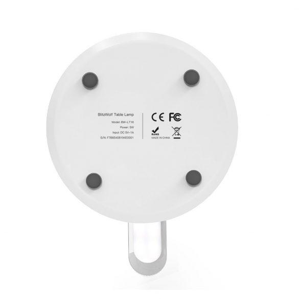 Lampa de birou pliabilă BlitzWolf® BW-LT16 cu iluminare de bază RGB automată Baza de control tactilă reglabilă, lampă de noapte, de noptieră, de 200 ml