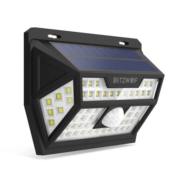 Lampa solara exterioara - BlitzWolf BW-OLT1 cu detector de miscare, rezistent la apa IP64