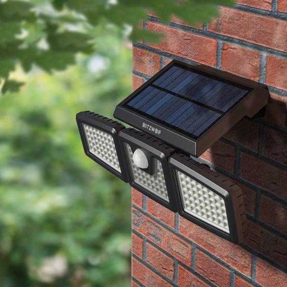 Lampa solara exterioara - BlitzWolf BW-OLT4 cu detector de miscare, rezistent la apa IP64