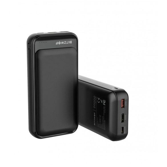 BlitzWolf® BW-P11 Power Bank 20000mAh 18W QC3.0 Baterie de alimentare cu încărcare rapidă cu polimer USB dublu - Negru