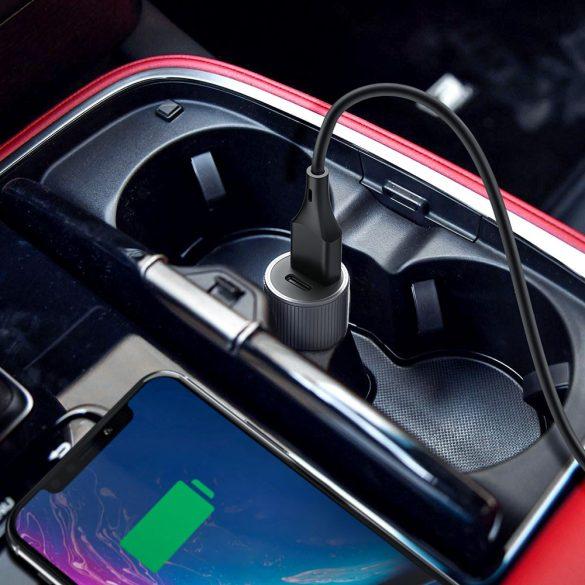 BlitzWolf® BW-SD4 36W USB tip C PD încărcare rapidă Mini încărcător auto pentru iPhone X XS Max Xiaomi Mi9 Pocophone F1 S10 S10 + - Gri