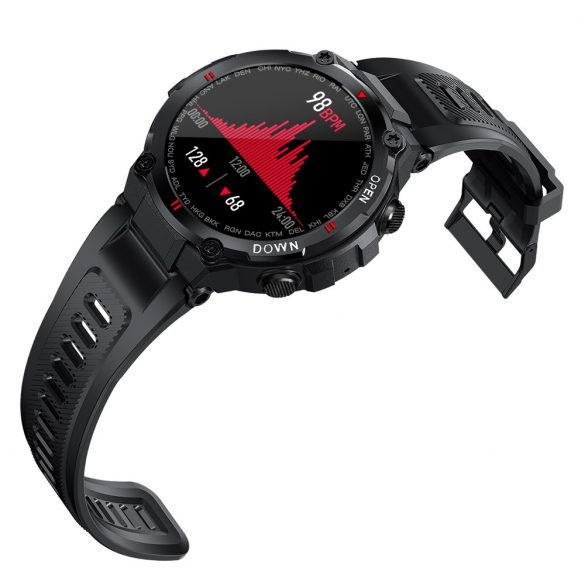 Blitzwolf® BW-AT2C (Negru) Ceas inteligent cu microfon încorporat și difuzor cu nenumărate funcții ale modului de activitate