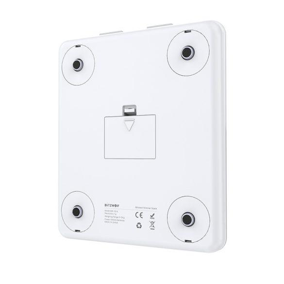 BlitzWolf BW-SC4 - Cantar electronic pentru bucatarie, sticla securizata capacitate maxima 5 kg, control touch cu display lcd, gradare 1g