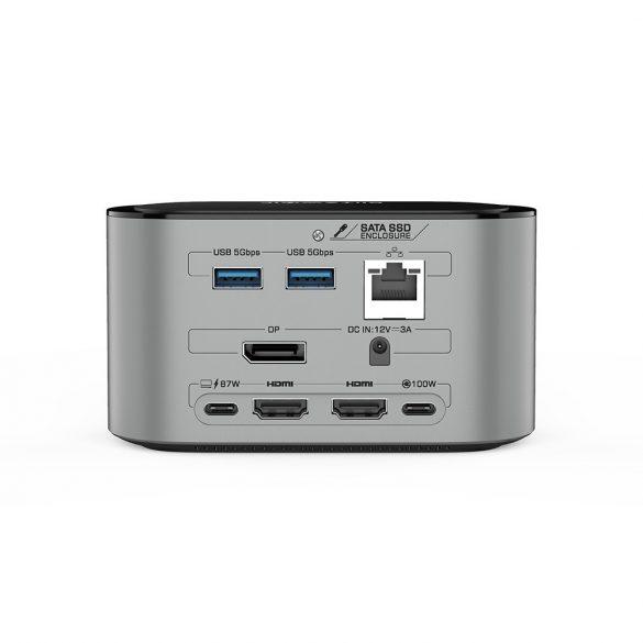 Blitzwolf BW-TH12 Hub 14 în unul: SATA3.0, 4K HDMI, 4x USB 3.0 port, 3.5 Jack, port LAN