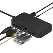 BlitzWolf® BW-TH7 7 în 1 HUB:  DC, USB, HDMI, Display, Jack, RJ45 ports
