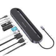 Blitzwolf BW-TH9 stație de andocare 12 în 1: port USB 3.0, cititor de carduri SD, HDMI, port VGA, port de încărcare USB C, RJ45, Jack
