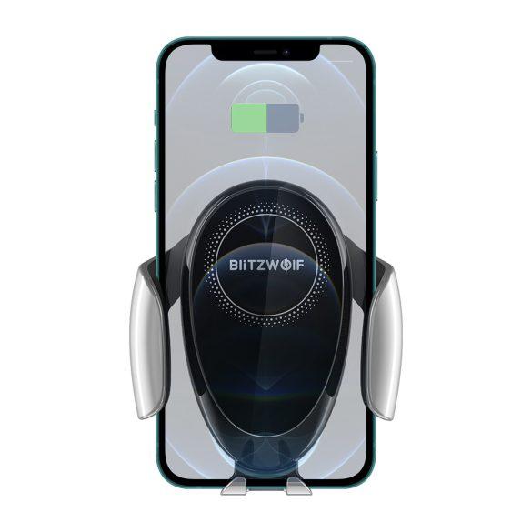 BlitzWolf® BW-CW3 - încărcător rapid wireless 15W + suport telefon auto - pentru toate telefoanele care acceptă încărcarea fără fir (standard QI)