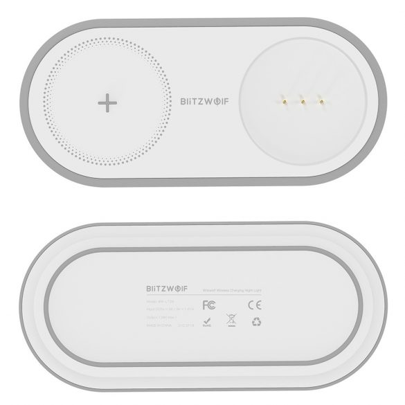 BlitzWolf® BW-LT26 - Wireless Charger Pad + lampa de noapte