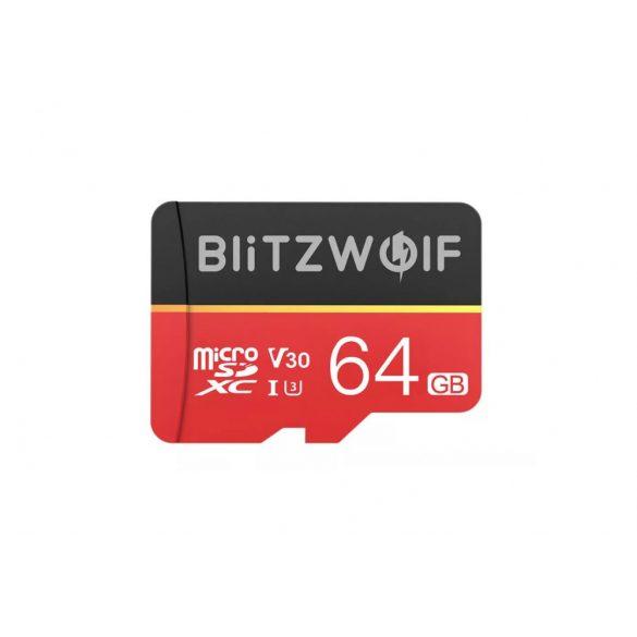 Card de memorie cu adaptor   Card de memorie cu adaptor BlitzWolf®BW-TF1 64 GB Card de memorie cu adaptor, până la 80MB / s viteze de citire + 20 MB / s