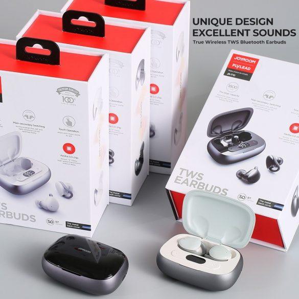 Casti JOYROOM JR T10 negru - Cască de încărcare Căști Hi-Fi Bluetooth TWS, chip Airoha, carcasă din aluminiu, capacitate mare a bateriei