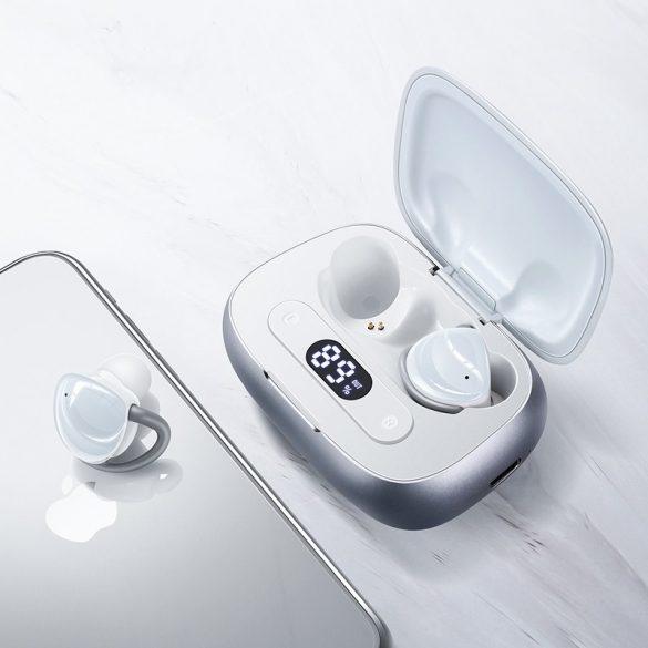 Casti JOYROOM JR T10 alb - Cască de încărcare Căști Hi-Fi Bluetooth TWS, chip Airoha, carcasă din aluminiu, capacitate mare a bateriei
