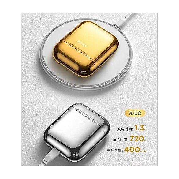 Căști fără fir Bluetooth 5.0 JOYROOM T03S - Încărcare QI (wireless) acceptată, TWS, aurii