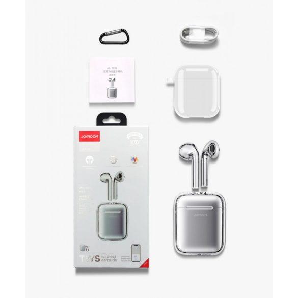 Căști fără fir Bluetooth 5.0 JOYROOM T03S - Încărcare QI (wireless) acceptată, TWS, argint