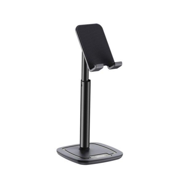 Suport pentru telefon de birou Joyroom, 260 mm înălțime, corp din aluminiu - negru