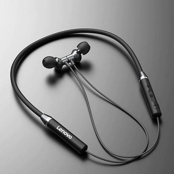 Casti Wireless HE05 Magnetic Neckband Waterproof IPX5 LENOVO Rosu