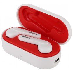 Căști Lenovo HT28 Bluetooth V5.0 - sunet clar, aspect elegant, control tactil, IPX5 rezistent la apă, reducere a zgomotului. Alb și roșu