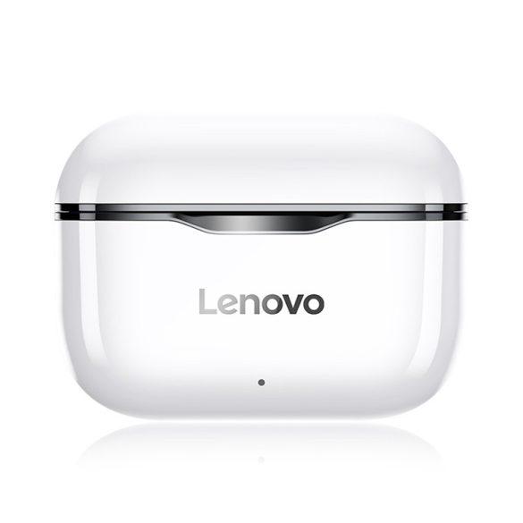 Căști fără fir Lenovo LivePods LP1 TWS Bluetooth 5.0 Căști stereo duble cu microfon Un control tactil Standby lung 300 mAh IPX4 Căști impermeabile Carcasă de încărcare cu reducere a zgomotului