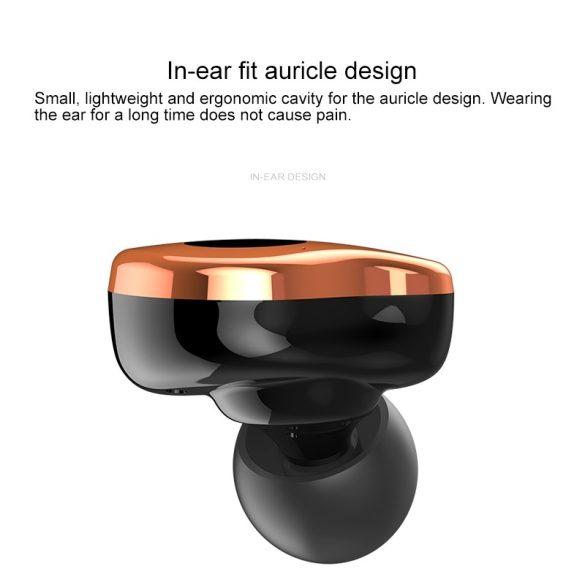 Sabbat E12 Ultra (aur) with QI-wireless charging - Mini Căști fără fir Anulare activă a zgomotului Cască Bluetooth 5.0 Căști Deep Bass Căști cu microfon