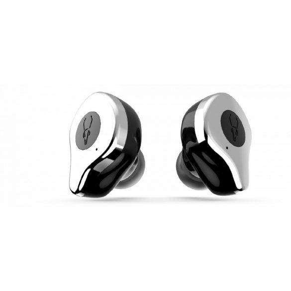 Sabbat E12 hail silver with QI-wireless charging - Mini Căști fără fir Anulare activă a zgomotului Cască Bluetooth 5.0 Căști Deep Bass Căști cu microfon