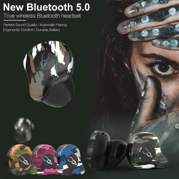 Sabbat X12 Amazon (gri) - Mini Căști fără fir Anulare activă a zgomotului Cască Bluetooth 5.0 Căști Deep Bass Căști cu microfon