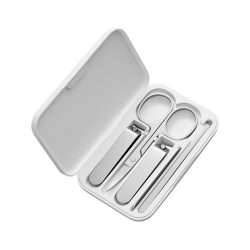 Xiaomi set de 5 unghiere pentru manichiura & pedichiura cu carcasa, otel inoxidabil, mat, Fellis