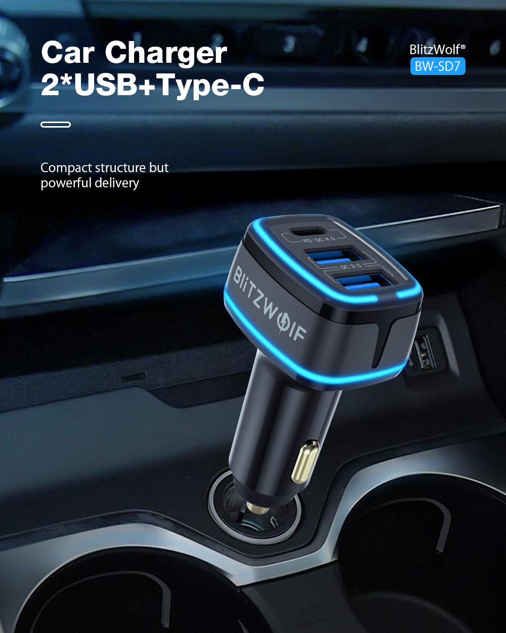 BlitzWolf BW-SD7 car charger