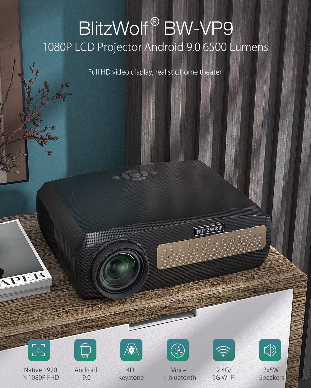 Blitzwolf BW-VP9 Android projector